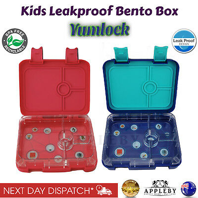 Bento Lunch Box Food Container School Picnic 4 LeakProof Compartments by Yumlock