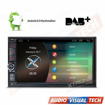 """UK 7"""" Android 6.0 Double 2 DIN Sat Nav Car GPS Stereo DAB+ Radio WiFi 3G OBD2 BT"""