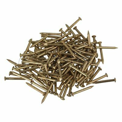 100pcs 15mm Archaize Furniture Copper Miniature Nail with Round Head Brass