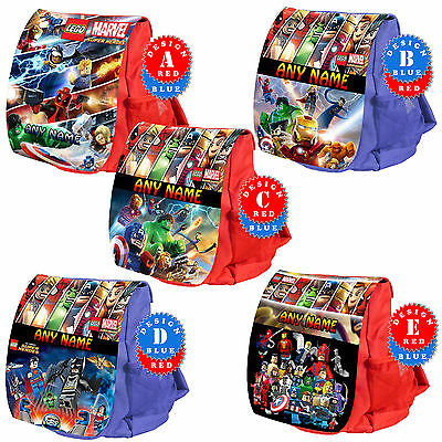 LEGO SUPER HEROES Marvel Avengers Personalised Backpack Rucksack School Bag Kids