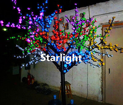 Outdoor 6.5ft 1,152pcs LEDs Cherry Blossom Tree Home Holiday Decor 6 Mixed Color