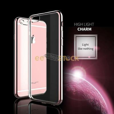 Coque rose gold iphone 6 6S silicone transparente cristal clear ESS TECH® Electr