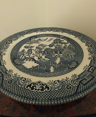 Churchill Blue Willow 10 inches Plate. Blue & White Never Used.