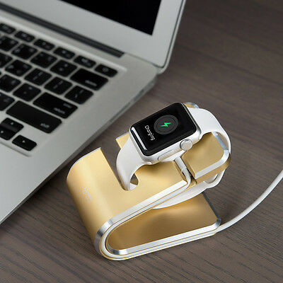 Charging holder gold aluminum CNC finest finish dual color for all Apple Watch