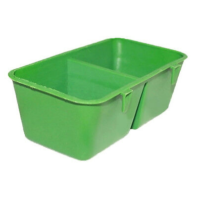 2 in 1 Food Bowl Cups Feeding Plastic Sand Cup Cage Parrot Supplies Easy to Use
