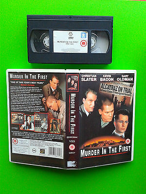 Murder in the First - BIG Box Vhs Video Christian Slater Kevin Bacon Gary Oldman