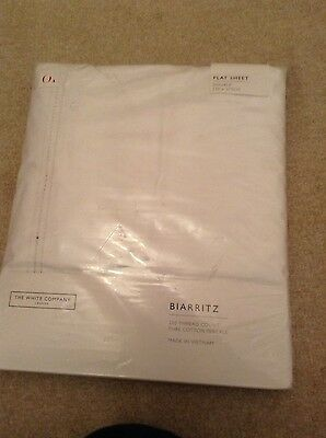 White Company flat white double bed sheet ex display