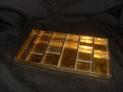 Small Antique Gilded  Metal Box Tray