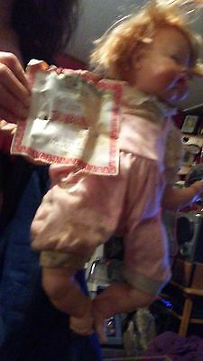 """Vintage 1960's Original Ideal 19"""" Thumbelina Baby Doll . in good condition"""