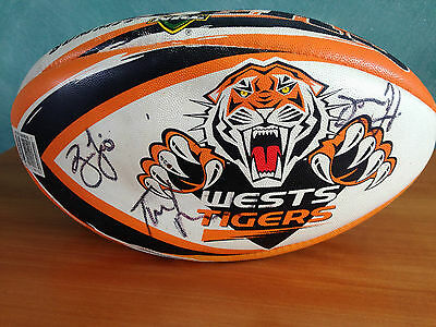 Wests Tigers NRL Signed Rugby league Ball