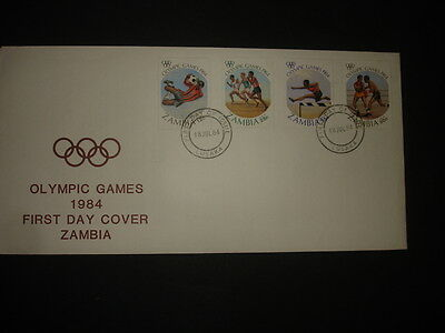 Zambia : 1984 Olympic Games : Pictorial FDC