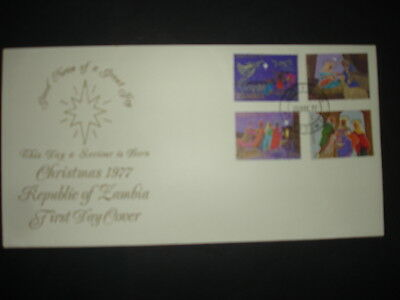 Zambia : 1977 Christmas : Pictorial FDC