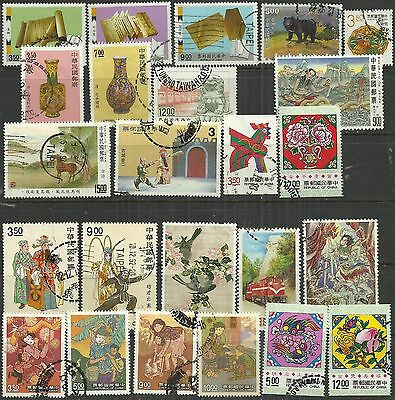 Taiwan 1992/3 24 used stamps as scan