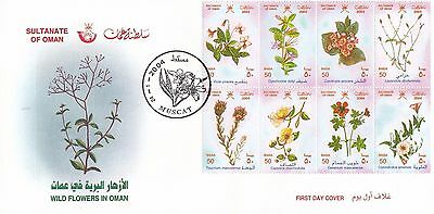 H 1248 Oman January 2004 First Day Cover; Flowers type 1