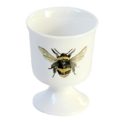 Bee Egg Cup - Country Kitchen Gift - Fine Bone China - Ceramic