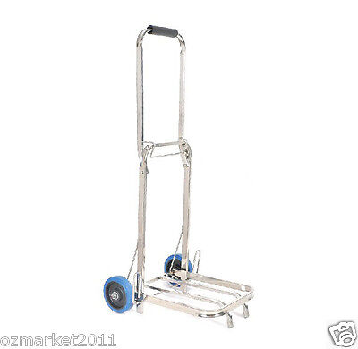 * Stainless Steel Two Wheels Convenient Collapsible Shopping Luggage Trolleys L
