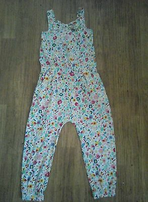 Tu Girls Adorable Floral Jumpsuit With Bow Tie Aged 3-4 Years