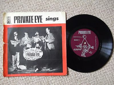 PRIVATE EYE Magazine PRIVATE EYE SINGS 7 inch single 1962 Picture Sleeve SATIRE