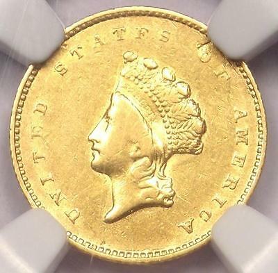 1854 Type 2 Indian Gold Dollar (G$1 Coin) - NGC AU Details - Rare - Nice Luster!