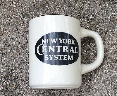 NEW YORK CENTRAL SYSTEM Coffee Mug from Railroad Ceramics, Made in USA, Good
