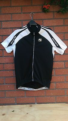 Giordana black and white Short Sleeve cycling jersey Size XL