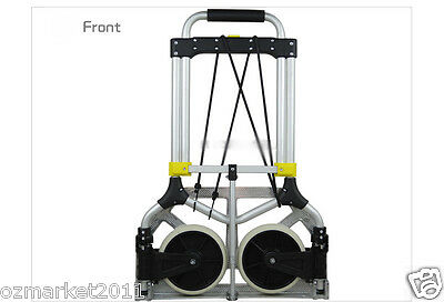 * New Convenient Durable Two Wheels Collapsible Shopping Luggage Trolleys