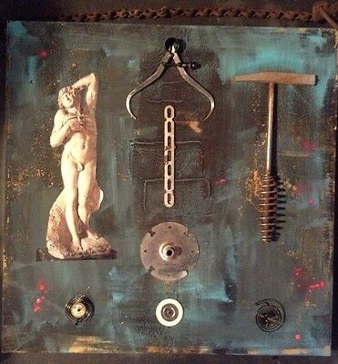 The Dying Slave assemblage mixed media collage