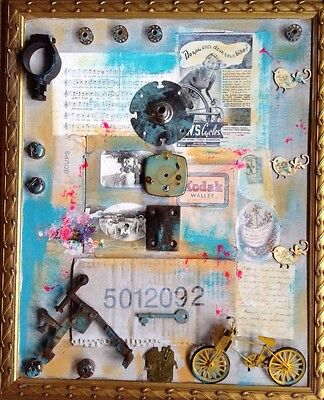 Mixed Media Collage Altered Art Assemblage