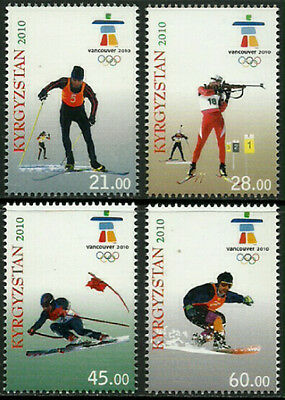 Kyrgyzstan #353-6 Mint Never Hinged Complte Set - 2010 Winter Olympics