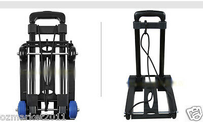 * New Convenient Black Mini Four Wheels Collapsible Shopping Luggage Trolleys