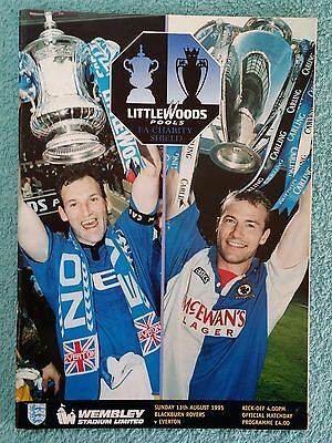 1995 - CHARITY SHIELD PROGRAMME - BLACKBURN ROVERS v EVERTON