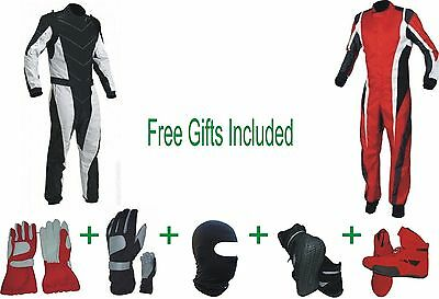 Go Kart Race Suit CIK/FIA Level 2 (2 Suits 1 Red & 1Black) (Free gifts Included)