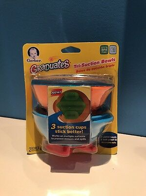 Gerber Graduates Tri-Suction Bowls Works on multiple surfaces by NUK (79101) NEW