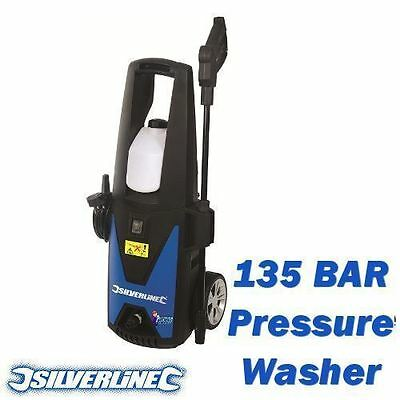 New Silverline 135 Bar 1400W Jet Washer / Pressure Washer Car Patio Cleaner Uk
