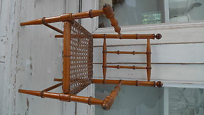 Antique french cane doll chair for your antique bisque doll Bru Steiner Jumeau