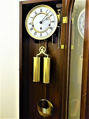 WESTMINSTER CHIMES DOUBLE WEIGHTED PENDULUM WALL CLOCK by Franz Hermle