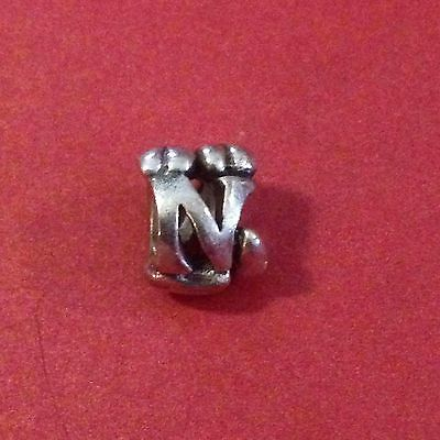 Authentic Trollbeads Letter N