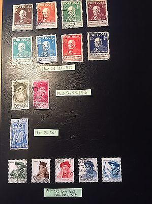 Good Selection Of Old Stamps From Portugal - 1940 to 1947.