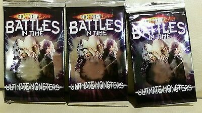 Doctor who battles in time ultimate monsters booster packs x3