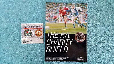 1994 - CHARITY SHIELD PROGRAMME + TICKET - BLACKBURN ROVERS v MANCHESTER UTD