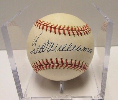 Ted Williams Baseball Autographed Ball with COA