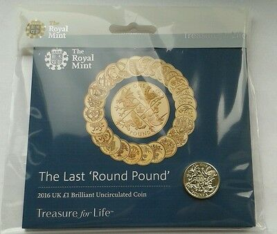 Royal Mint 2016 National Animals - The Last Round Pound UK £1 BU Coin Pack.