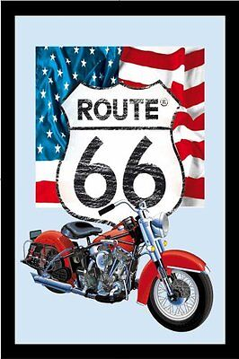 Empire 538680 - Quadro Route 66 Icons, su vetro stampato con cornice in plastica