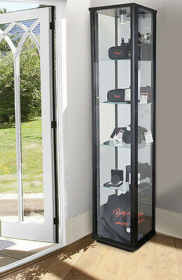 Home Or Retail Single Glass Display Cabinet In Black