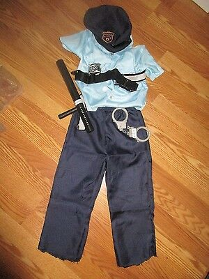 Unisex Child' Police Halloween costume with accessories size small 6*
