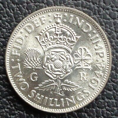 1944 George VI Two Shilling Coin / Florin –Lustrous Unc Ref SC1