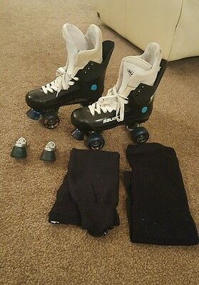 Bauer turbo UK size 9 roller skates quads old skool