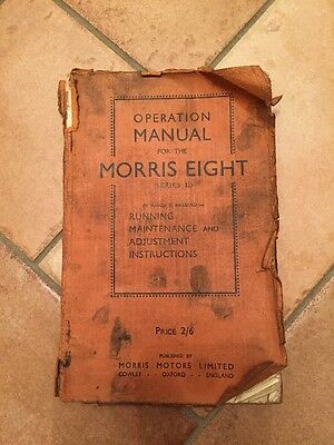 Authentic MORRIS EIGHT Series II Operation Manual