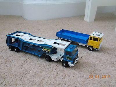 Collectable Matchbox Super-Kings Bedford 'Courier' Transporter & Ford H Series