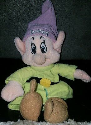 The Disney Store 1997 Snow White Dwarf Dopey  Beanie